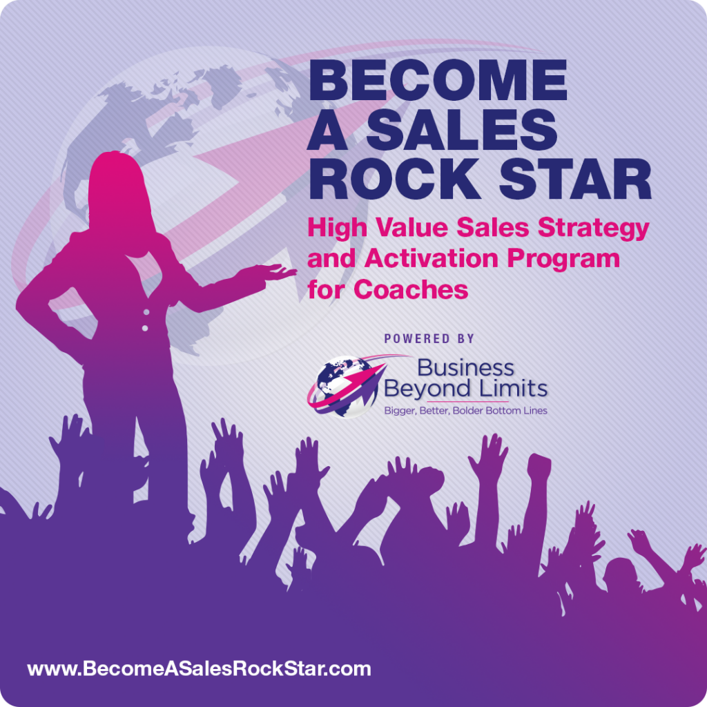 become a sales rock star, sales training for coaches