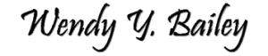 Wendy Y Bailey Signature